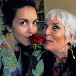 andrea-and-xie-smelling-the-rose