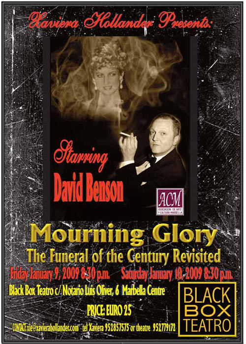 Flyer Mourning Glory play by David Benson